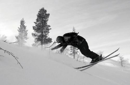 Joona Kangas skiing some deeper snow