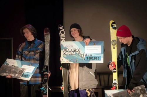 Joona Kangas 1st place Finnish Open Slopestyle 2014, Sappee.